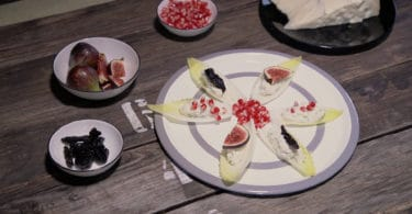 Barchette d'invidia di Gorgonzola ai tre colori